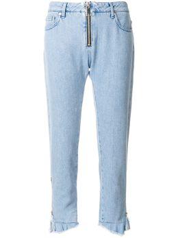 MSGM укороченные джинсы с завышенной талией 2441MDP42L184293