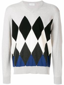 Ballantyne diamond pattern jumper M2P00114CA8