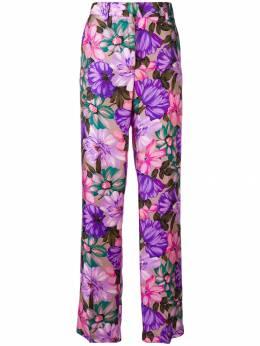 MSGM брюки прямого кроя с цветочным рисунком 2442MDP106184313