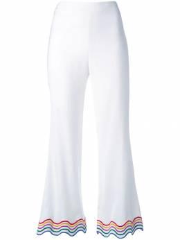 Sara Battaglia укороченные брюки с разноцветной окантовкой SB3008316