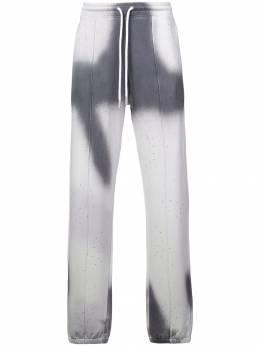 Off-White спортивные брюки с эффектом тай-дай OMCH008F181920410610