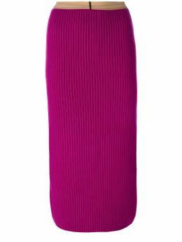 Calvin Klein 205W39nyc ребристая юбка с разрезом сзади 74WKSA08