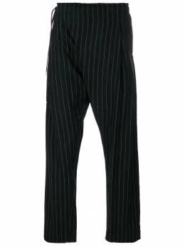 Takahiromiyashita The Soloist брюки в тонкую полоску с необработанными краями SWP0001B