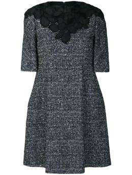 Talbot Runhof декорированное твидовое платье NORLING9CE30