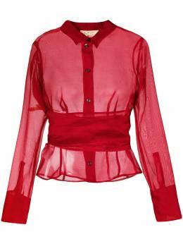 Romeo Gigli Pre-Owned прозрачная рубашка с поясом на талии ROM250R