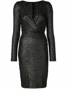 Talbot Runhof приталенное платье с V-образным вырезом RODIGO3CT10