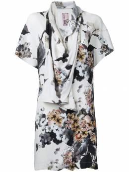 Antonio Marras драпированная блузка с цветочным принтом LB1038D90