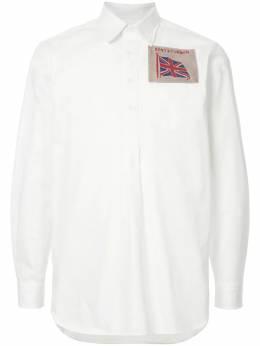 Kent & Curwen рубашка с заплаткой с флагом K3765ER100