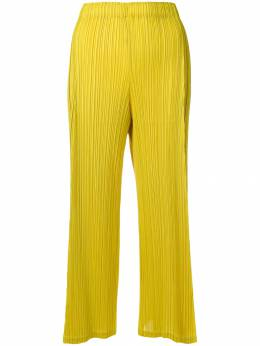 Pleats Please Issey Miyake two-tone cropped trousers PP86JF144
