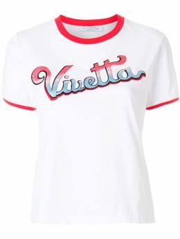 Vivetta embroidered logo ringer tee 81VP921