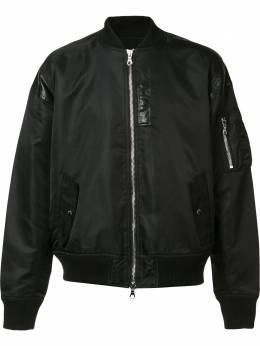 Mostly Heard Rarely Seen куртка-бомбер с кожаной отделкой MH08AFX04