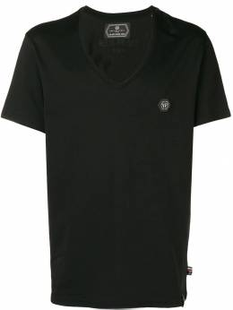 Philipp Plein футболка с заплаткой с логотипом F18CMTK2558PJY002N