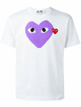 Comme Des Garcons Play футболка с принтом сердца P1T106