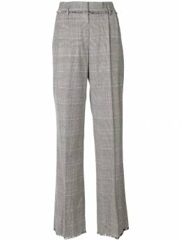 MSGM plaid flared tailored trousers 2541MDP07A184613