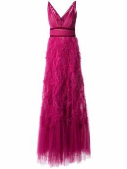 Marchesa Notte платье из тюля с оборками N25G0660