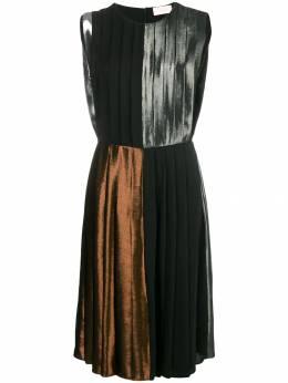 Christopher Kane платье в складку с отделкой ламе 476700UAS06