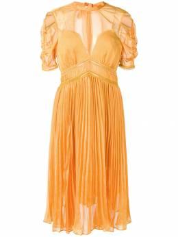 Self-Portrait плиссированное платье миди SP18028