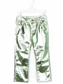Andorine укороченные брюки с металлическим блеском ADW3203