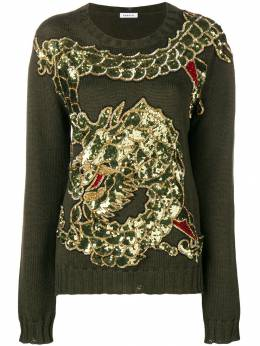 P.a.r.o.s.h. dragon sequin embroidered jumper LEQUINSD510076XZ