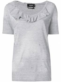 Dsquared2 ruffle-trimmed T-shirt S72GD0102S22146