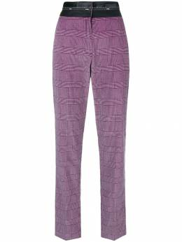 MSGM high-waist checked trousers 2541MDP25A184601