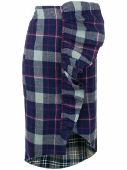 Natasha Zinko ruffled plaid skirt PF1830302
