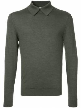 Cerruti 1881 long-sleeve fitted polo top C3867EI47049