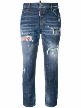 Dsquared2 Cool Girl cropped distressed jeans S72LB0119S30144