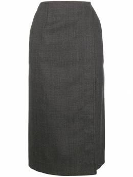 Calvin Klein 205W39nyc юбка в клетку с запахом 84WWSB66W125