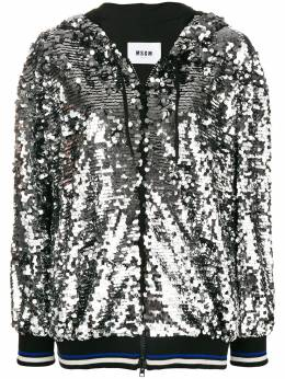 MSGM sequin hooded jacket 2541MDM66184758