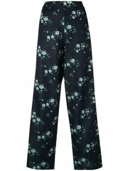 Kenzo брюки с цветочным принтом 'Cheongsam' F862PA737930