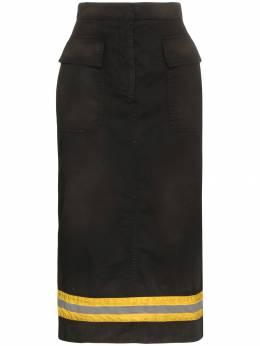 Calvin Klein 205W39nyc юбка миди с высокой талией и светоотражающей полосой 84WWSB76P093