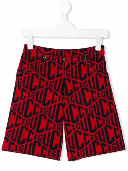 Gucci Kids шорты со сплошным узором с логотипами 520206X3O64