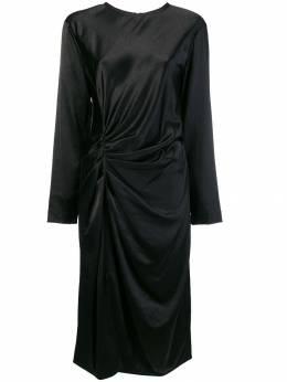 Helmut Lang платье миди с драпировкой I06HW606