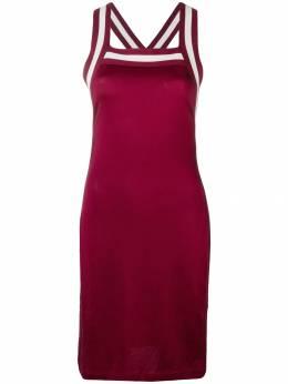 T By Alexander Wang трикотажное платье с отделкой в полоску 4C286016H1