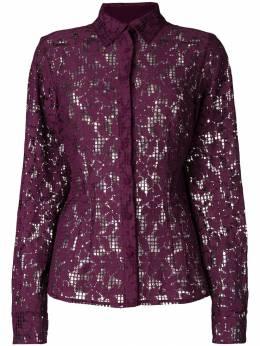 Talbot Runhof сетчатая рубашка с цветочной вышивкой RAKAU1CT30
