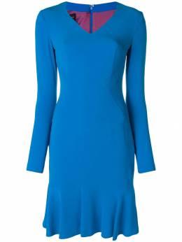 Talbot Runhof fitted V-neck dress PONDWOOD1UT15