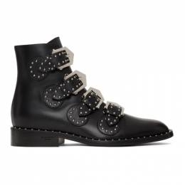 Givenchy Black Studded Elegant Boots BE08143004