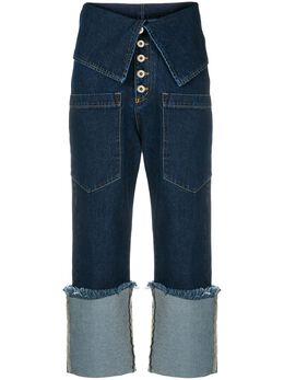Marques'Almeida джинсы с завышенной талией и бахромой RST19TR0115DNM