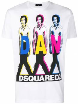 Dsquared2 футболка 'Dan' с принтом S74GD0498S22427