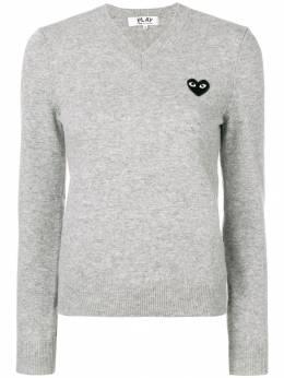 Comme Des Garcons Play свитер с пэтчем P1N017