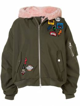 Haculla Aberrant patch bomber jacket HAW08AHX02