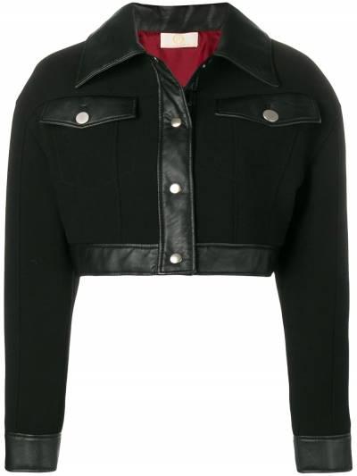 Sara Battaglia укороченная куртка с кожаной отделкой SB8013TE319W9 - 1