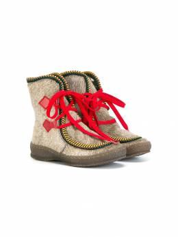 Pepe ботинки с отделкой шерстью пони 1424