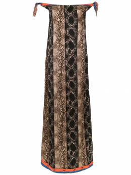 Amir Slama off the shoulder long dress 810751
