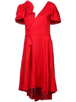 Delpozo платье с бантом 1180609039