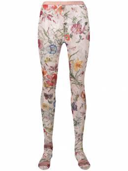 Gucci кружевные колготки с цветочным принтом 5530103G407