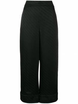 Alexander Wang брюки палаццо с принтом логотипов 1W494105F6