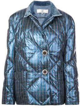 Natasha Zinko дутая куртка в клетку 4010283
