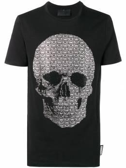 Philipp Plein футболка с заплаткой с логотипом S19CMTK3042PJY002N